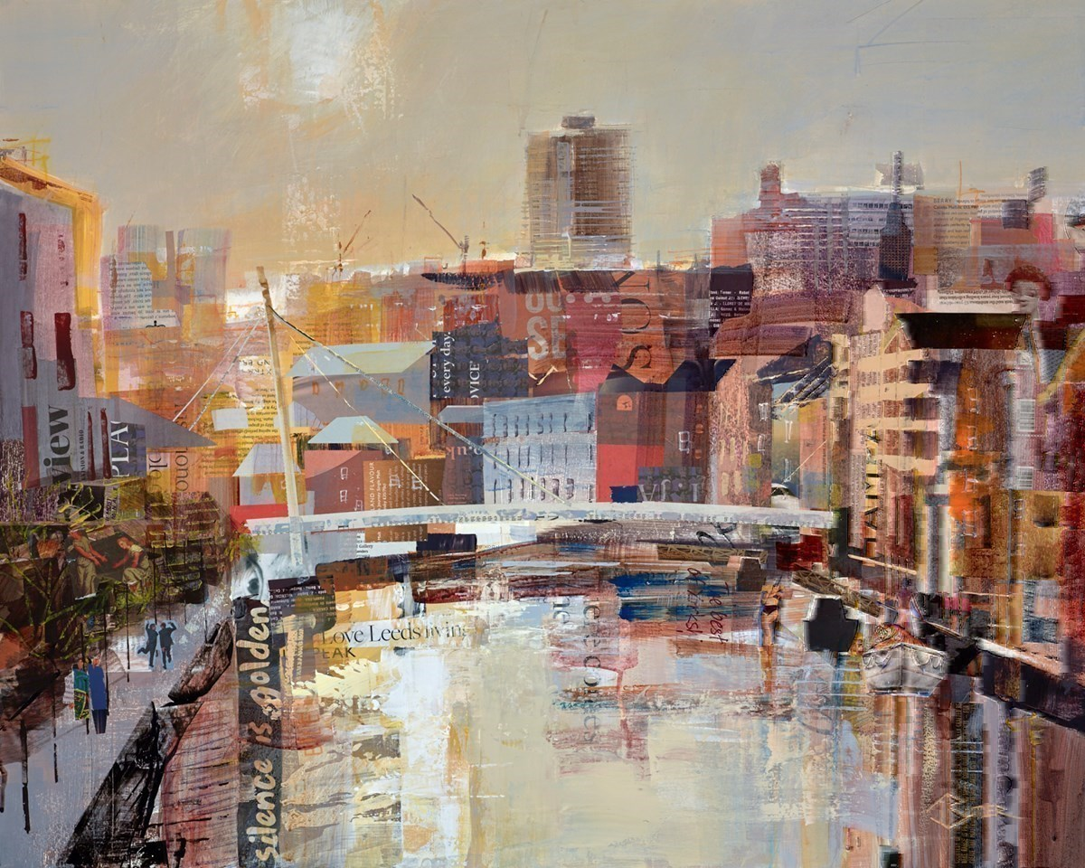Golden Aire, Leeds by Tom Butler -  sized 30x26 inches. Available from Whitewall Galleries